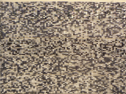 Seed Bead Painting No.3 (White Noise)